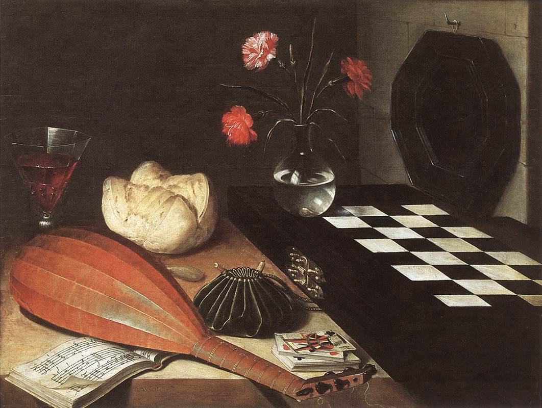"""Baugin Lubin, """"Les cinq sens"""", 1630. Musée du Louvre, Paris."""